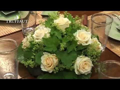 Art floral un centre de table rond youtube - Centre de table floral ...