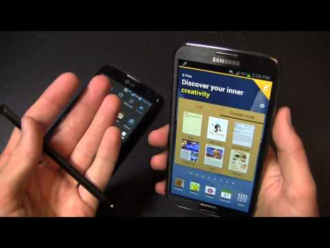 LG Optimus G Pro vs. Samsung Galaxy Note II Dogfight Part 1