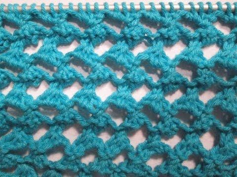 Tuto tricot apprendre a tricoter le point ajoure oeil de chat point de tricot fantaisie facile - Point tricot ajoure facile ...
