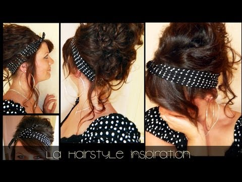 coiffure pin up coiffure jolie originale et rapide l a hairstyle inspiration youtube. Black Bedroom Furniture Sets. Home Design Ideas