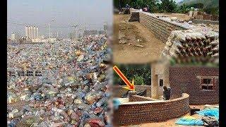 Thu thập lượng lớn chai nhựa để xây nhà, hàng xóm ai cũng cười chê cho đến khi phải lác mắt khi nhìn