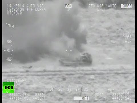 Combat cam video: Mi-35 helicopter gunship fires missiles at militants in Iraq