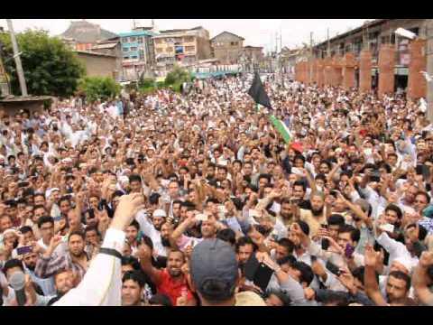 Mirwaiz Umar Farooq stressed upon the world community to stop the Israeli barbarism in Gaza