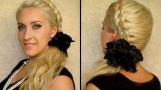 Dutch Braid Tutorial Party Hairstyle For Long Hair Side