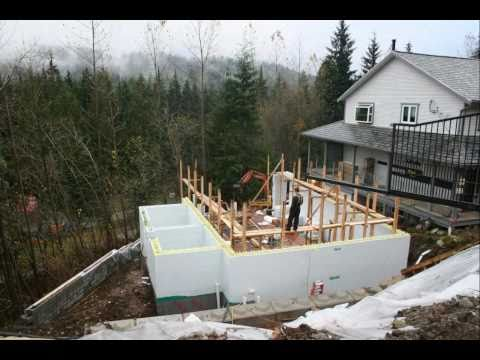 Insulated Concrete Forms Pool House Time Lapse Youtube