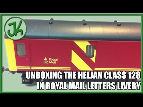 Unboxing the Heljan Class 128 in Royal Mail Letters Livery