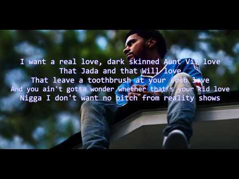 J Cole - No Role Models (2014 Forest Hills Drive)  LYRIC VIDEO