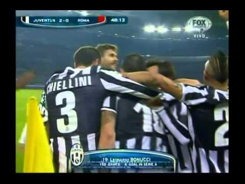 Gol de Leonardo Bonucci // Juventus 2 Roma 0