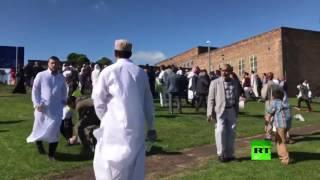 اللقطات الأولى من مكان عملية دهس لمحتفلين بعيد الفطر في مدينة نيوكاسل البريطانية | قنوات أخرى