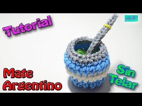 ♥ Tutorial: Mate Argentino de gomitas en 3D (sin telar) ♥