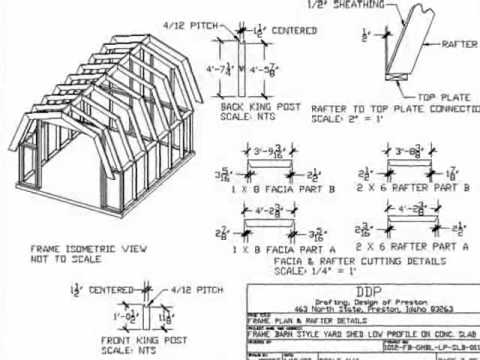 Hollans Models 10 X 12 Gambrel Shed Plans 20x30 Picture