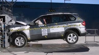 BMW X5 X5M 2013 Frontal Crash Test NHTSA High Speed