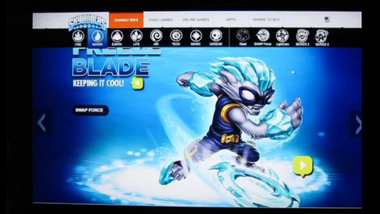 Skylanders swap force tous les nouveaux personnages de la classe eau youtube - Tous les skylanders ...