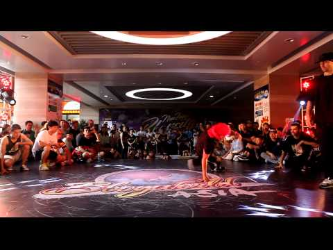 BBoy 1 on 1  歐陽 vs Laykovskiy│China Prelim of New Taipei Bboy City 2014