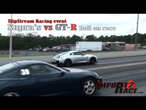 Supra's vs GT R Roll on race @ SlipStream Racing event