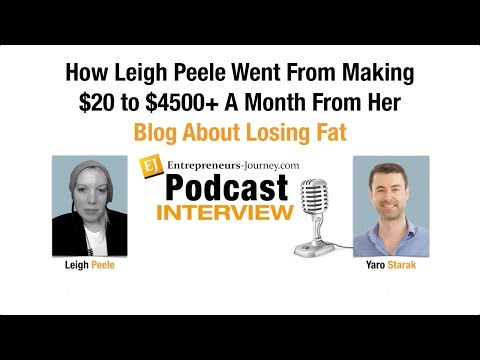 How Leigh Peele Went From Making $20 to $4500+ A Month From Her Blog Video