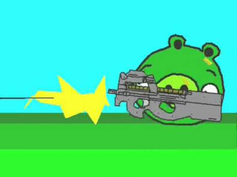 Angry Birds animated parody      - YouTube  , Angry Birds can beat the pigs without cheats! This video is a parody meaning that,sure, I made the whole video, but the copyrights belong to Rovio, meaning t...