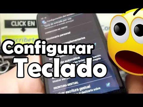 Cómo configurar el teclado de Android Motorola Moto G X T1032 español