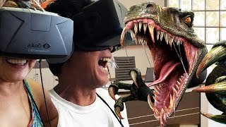 """My Parents Play """"Don't Let Go"""" on the Oculus Rift! 
