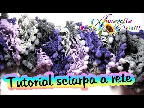 Tutorial sciarpa a rete con i ferri | How to knit ruffle scarf