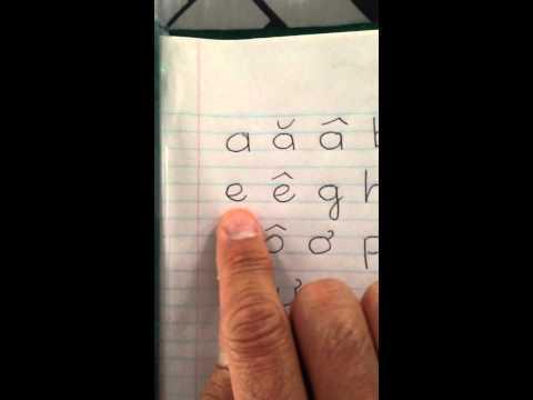 Phát âm bảng chữ cái tiếng Việt