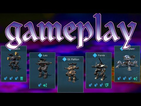 War Robots Leech Leo Patton Fenrir Weyland Deatmatch Gameplay