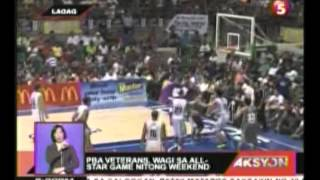 PBA Veterans, Wagi sa All star Game nitong Weekend
