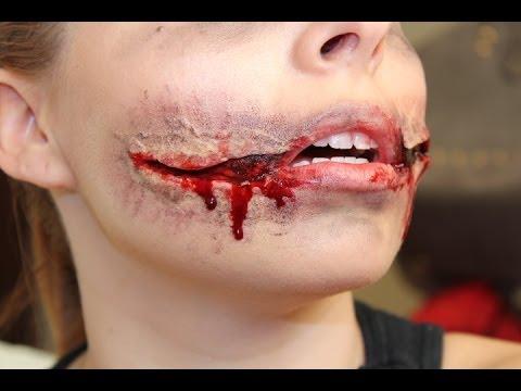 TV Karão: Chelsea Smile *efeitos especiais* boca dilacerada - FX Halloween makeup