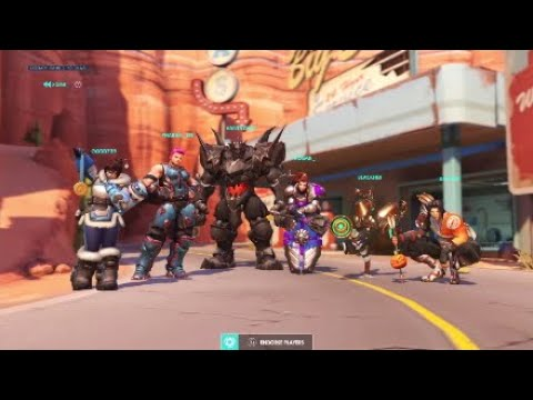 Zarya gameplay|| Overwatch.