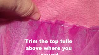 Making A Tutu Tote Bag