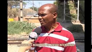 Moradores de Contagem reclamam de acesso interditado
