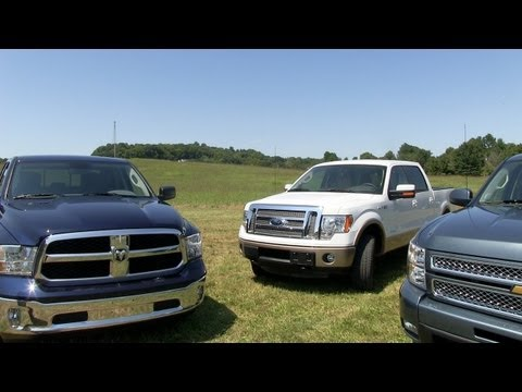 2013 Ram 1500 vs Ford F-150 vs Chevy Silverado 0-60 MPH Mashup Test & Review