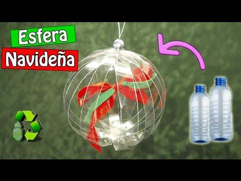 79. DIY ESFERA NAVIDEÑA FACIL (RECICLAJE DE BOTELLAS PLÁSTICAS)