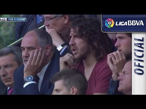 Carles Puyol during FC Barcelona - Atlético de Madrid