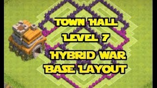 Clash Of Clans Best TH7 Hybrid War Base Layout