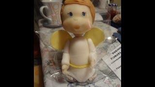 Como Forrar Un Cono De Telgopor / Angelito En Porcelana Fria