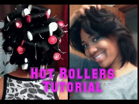 Remington HOT ROLLERS On BLOW DRIED RELAXED HAIR!