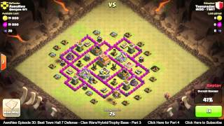 BEST Town Hall Level 7 (TH7) Defense Strategy Clan Wars