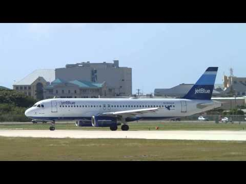 JetBlue Airways Airbus A320 N524JB 'Blue Belle' Departing Grand Cayman (MWCR)!
