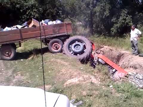 Accidente con tractor