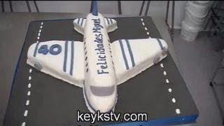 Como Hacer Una Tarta De Avion De Fondant O Masa Elastica Airplane Cake