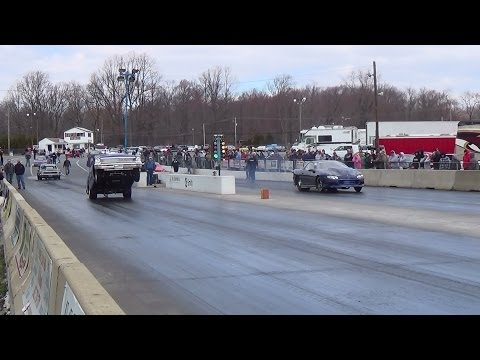 Schankweilers Chevy II driven by Rob Puller Wheelstand 4-5-14