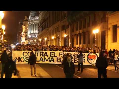 Manifestación Antifascista en Madrid 17/11/12