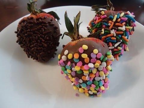 Fresas con chocolate para el 10 de Mayo
