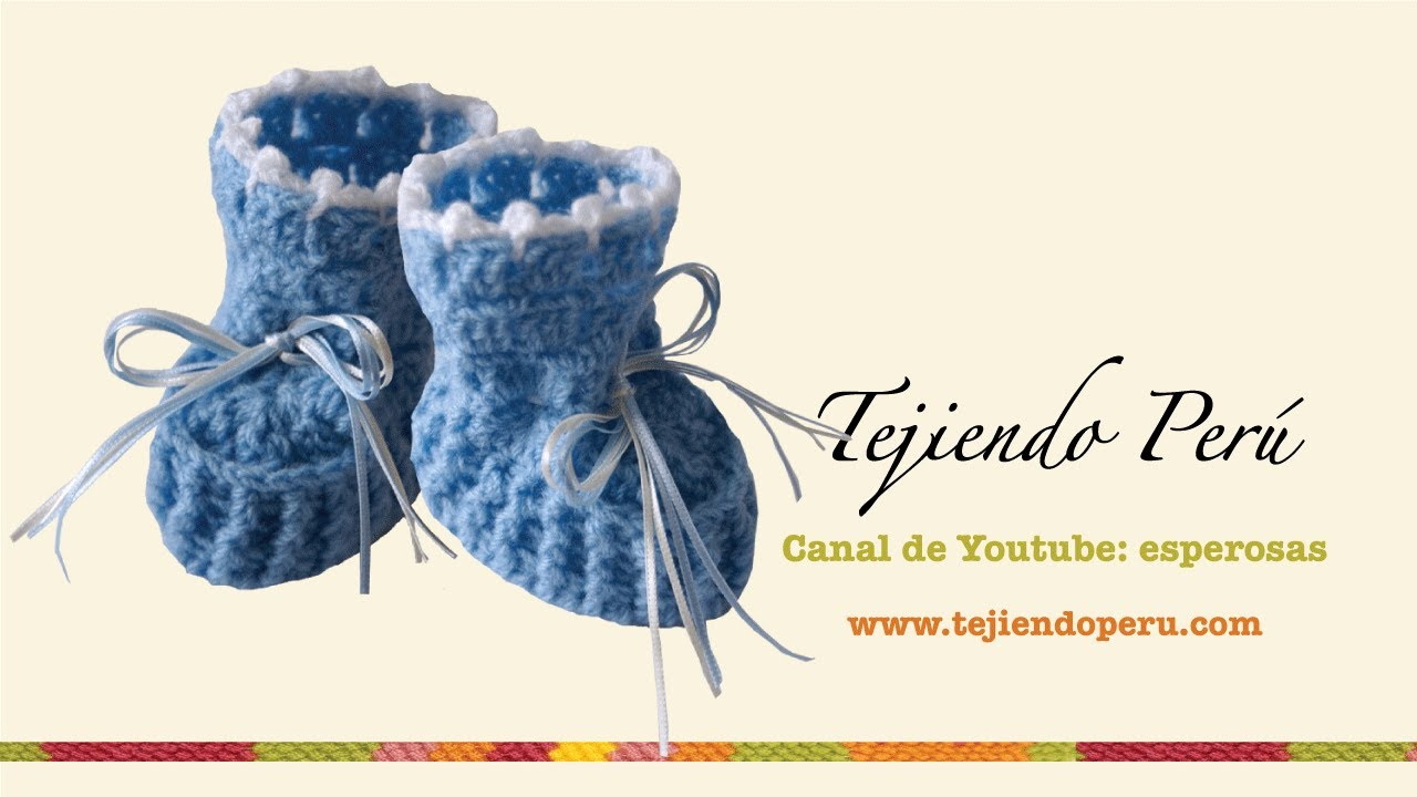 Zapatitos para bebE en crochet (Parte 1) - YouTube