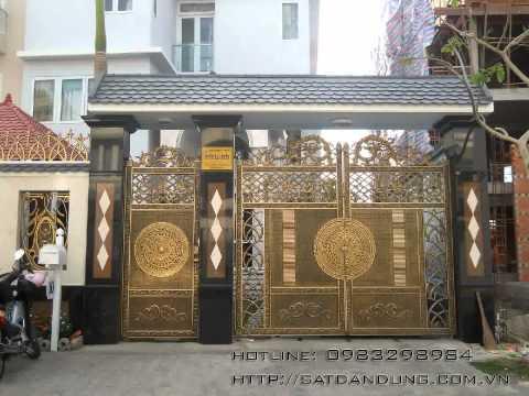 Mẫu cổng nhà đẹp, cổng sắt đẹp, hàng rào sắt đẹp, lan can ban công đẹp...