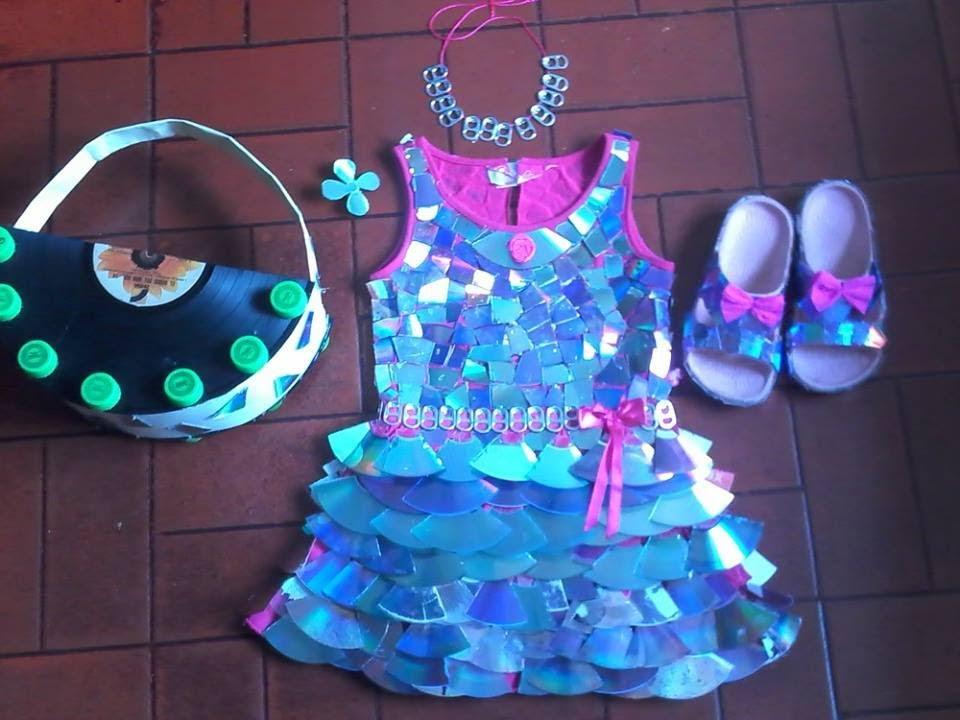 Vestidos De Nina's Hechos Con Material Reciclaje