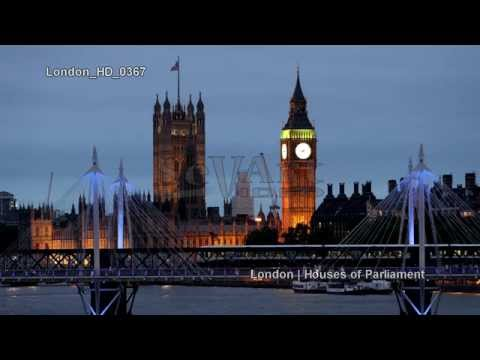 UHD Ultra HD 4K Video Stock Footage London UK Houses of Parliament Westminster Elizabeth Tower
