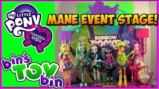 Equestria Girls Rainbow Rocks Mane Event Stage Playset
