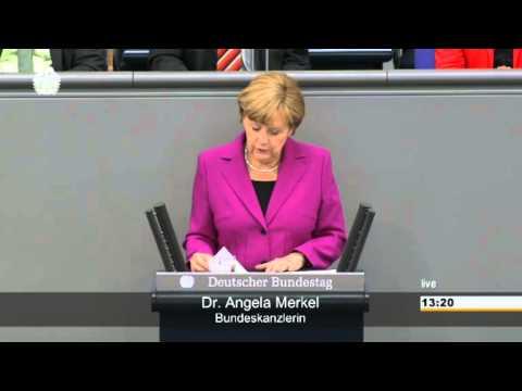 Regierungserklärung von Angela Merkel am 4. Juni 2014